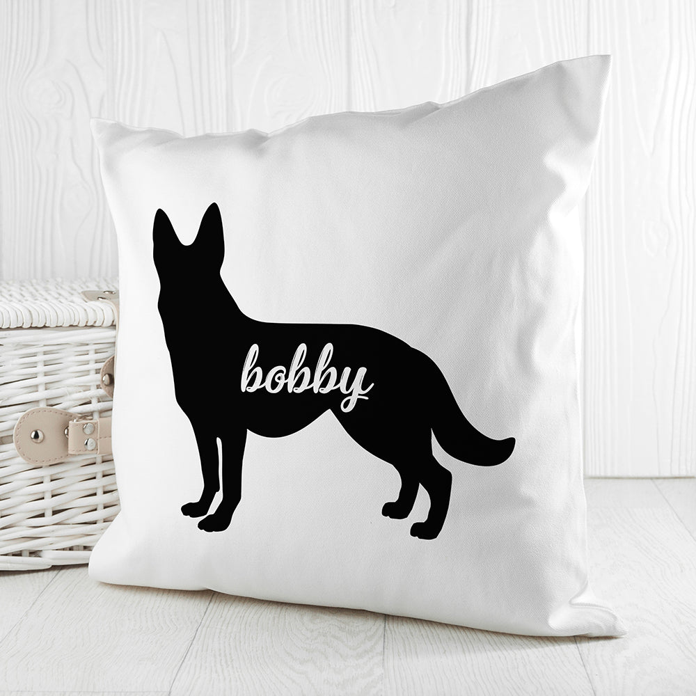 Personalised German Shepherd Silhouette Cushion Cover - treat-republic
