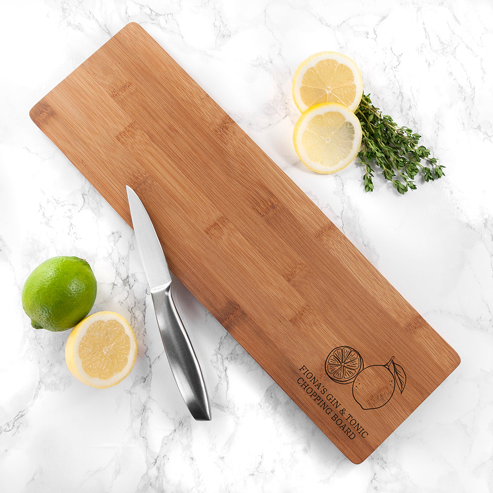 Personalised Gin and Tonic Chopping Board - treat-republic