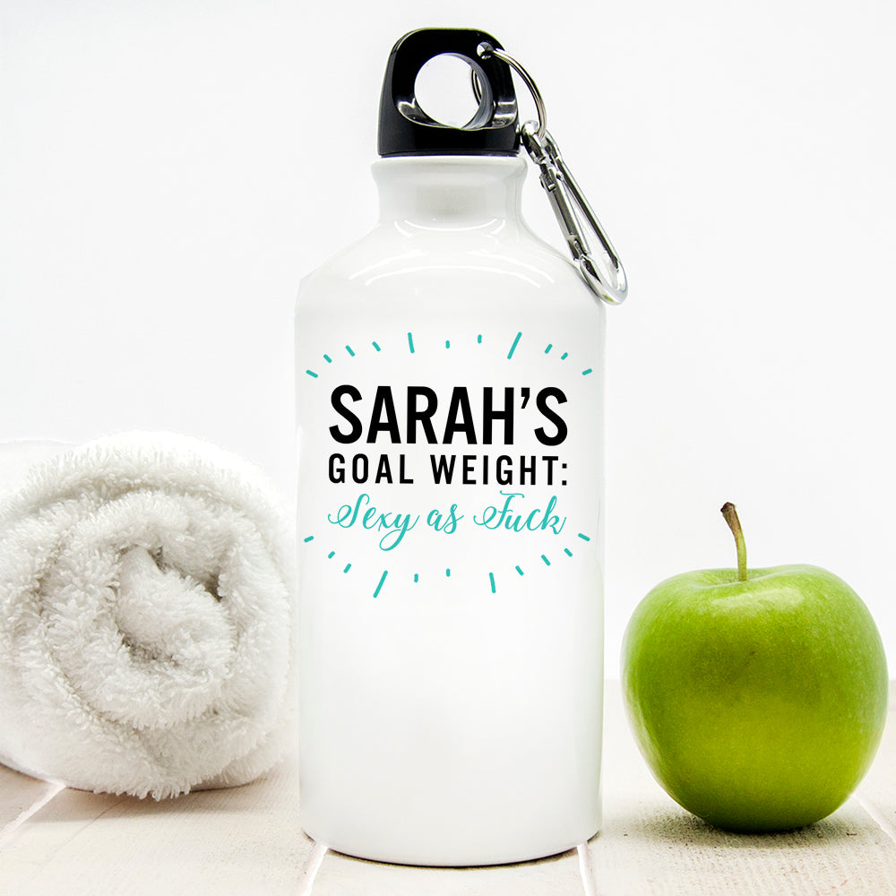 Personalised Goal Weight Water Bottle - treat-republic