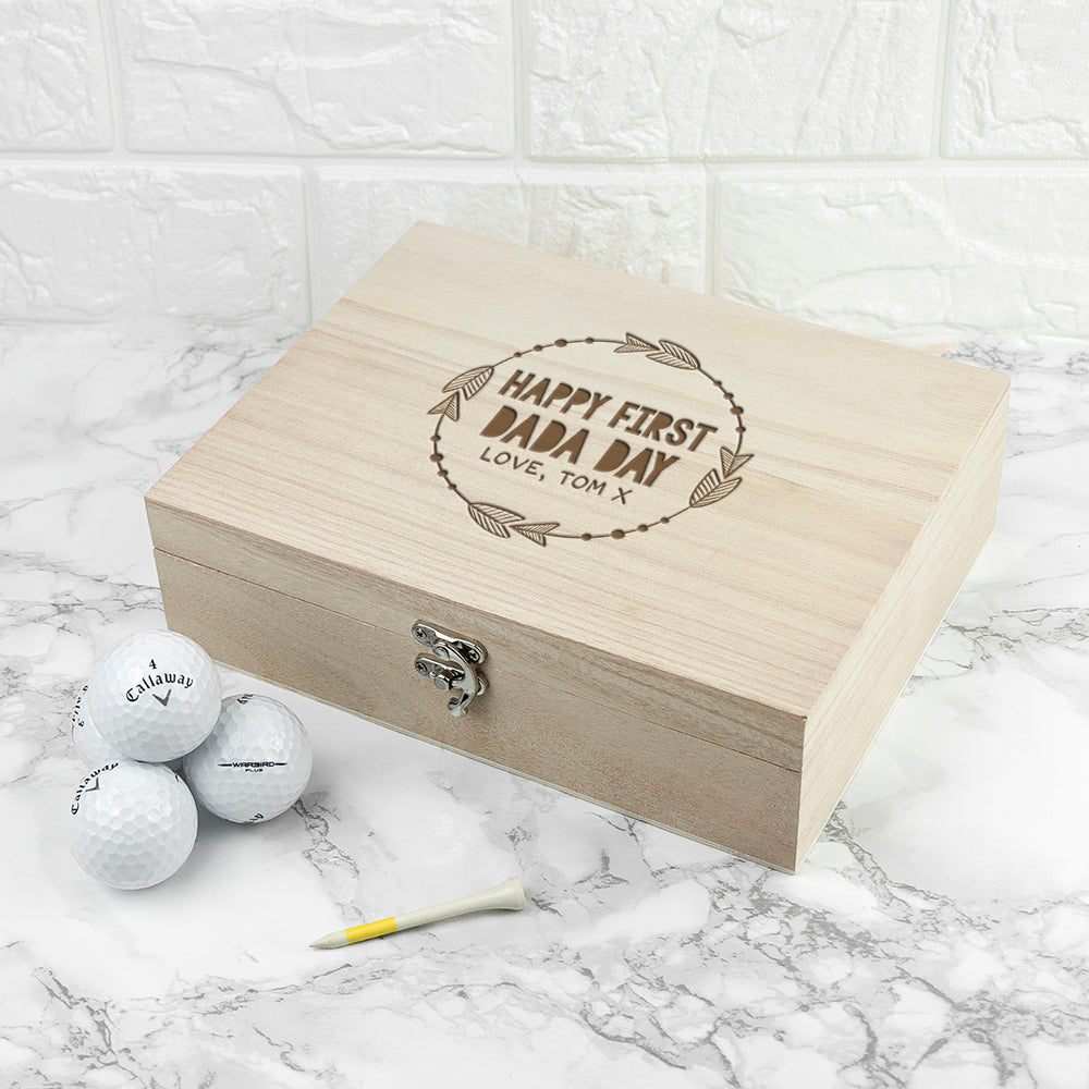 Personalised Happy First Papa Day Box