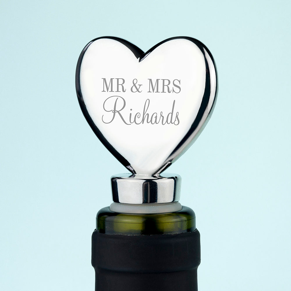 Personalised Heart Bottle Stopper - treat-republic