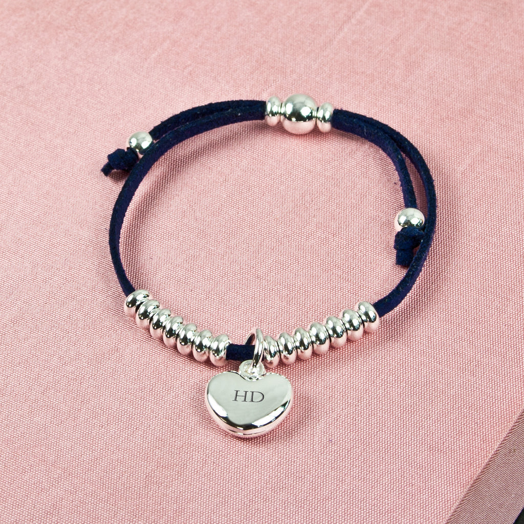 Personalised Heart Friendship Bracelet - treat-republic