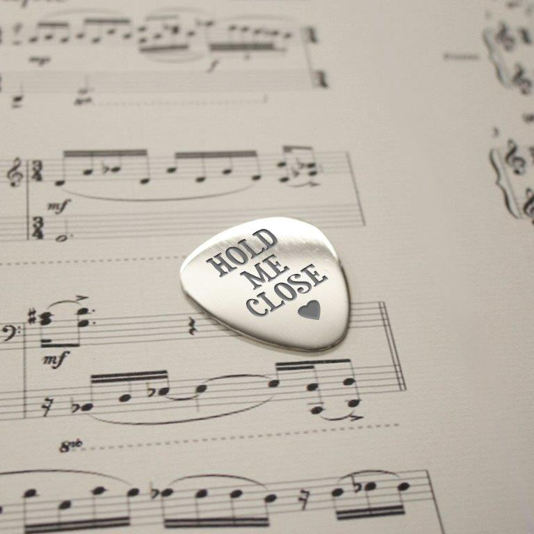Personalised Hold Me Close Plectrum - treat-republic