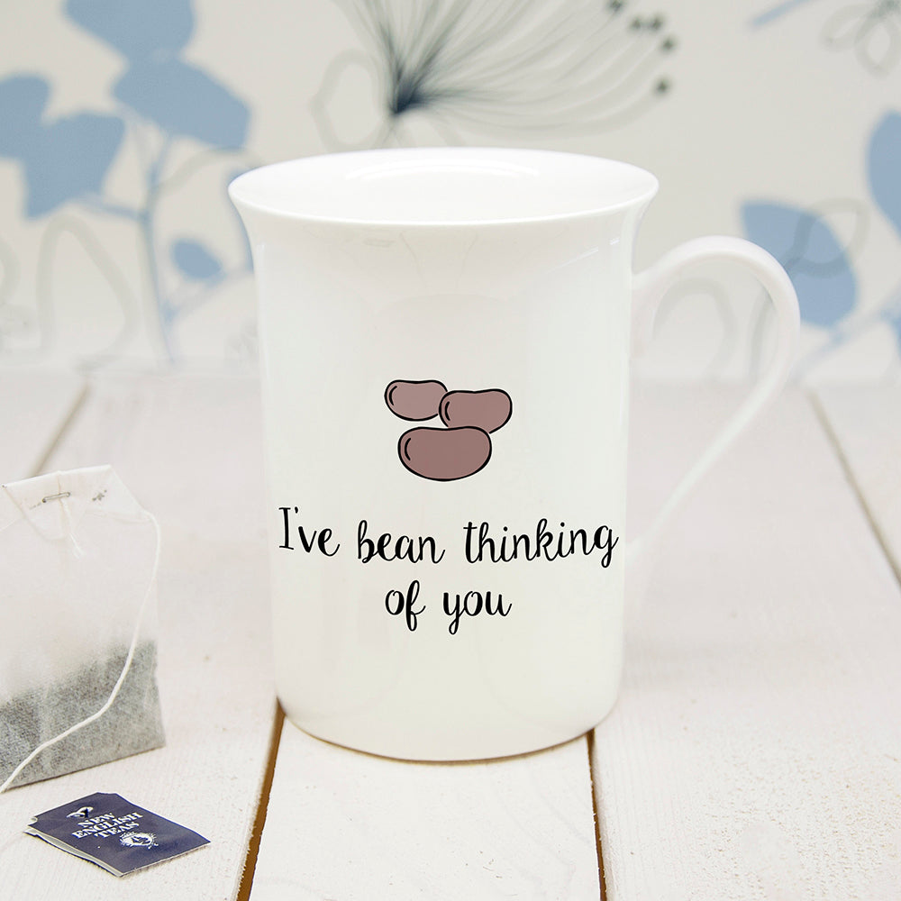 Personalised I've Bean Thinking Of You Bone China Mug - treat-republic