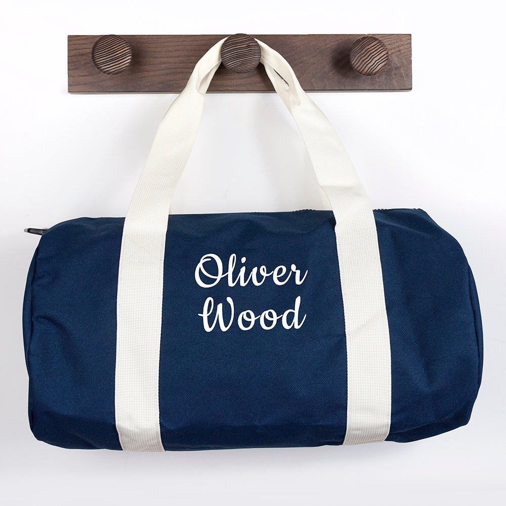 Personalised Kids Navy Gym Kit Bag