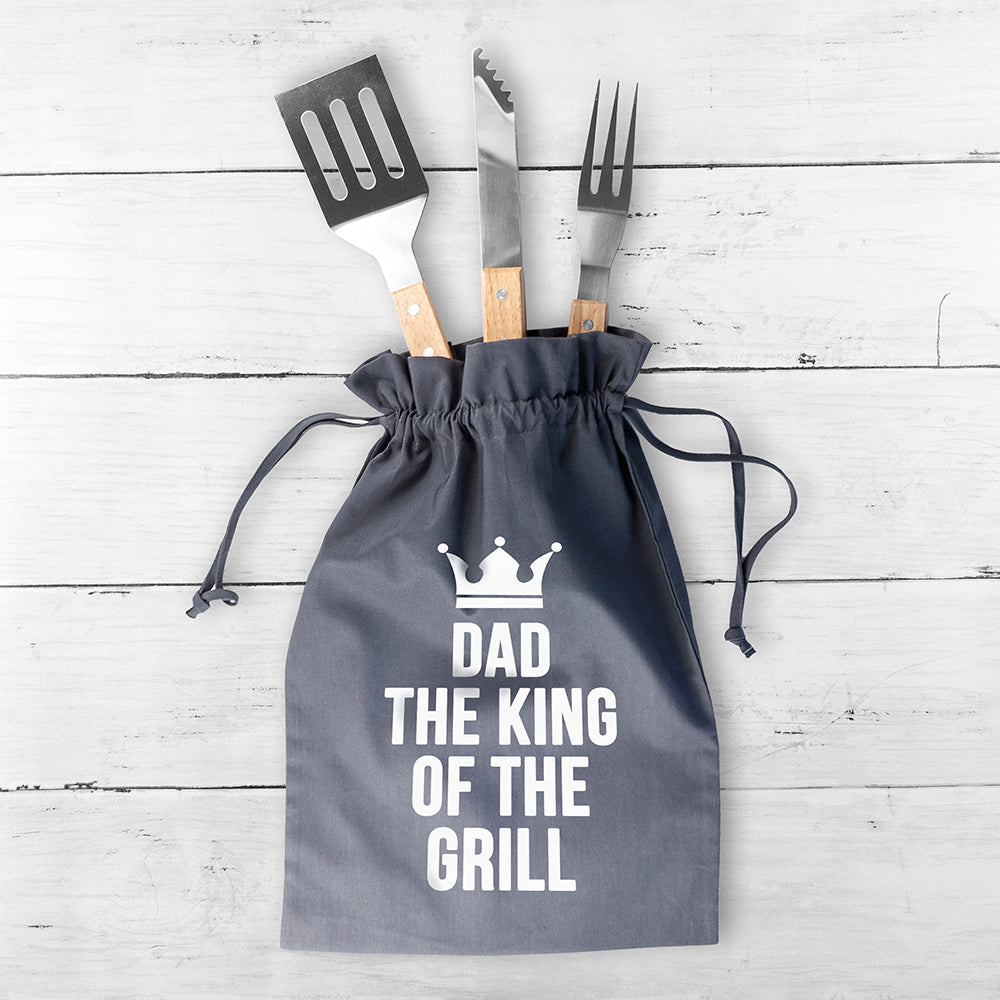 Personalised King Of The Grill BBQ Tools Set - treat-republic