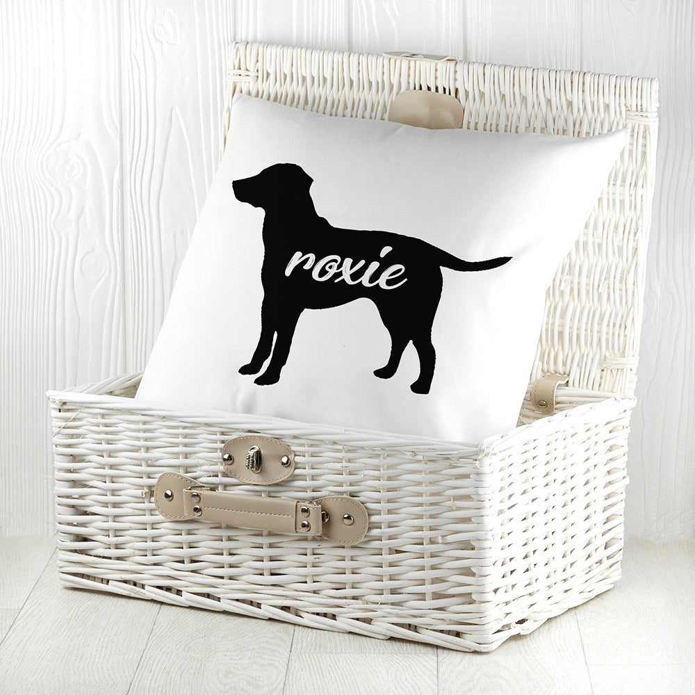 Personalised Labrador Silhouette Cushion Cover - treat-republic