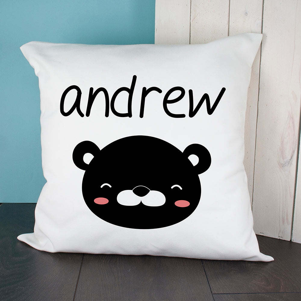 Personalised Little Bear Face Cushion Cover - treat-republic