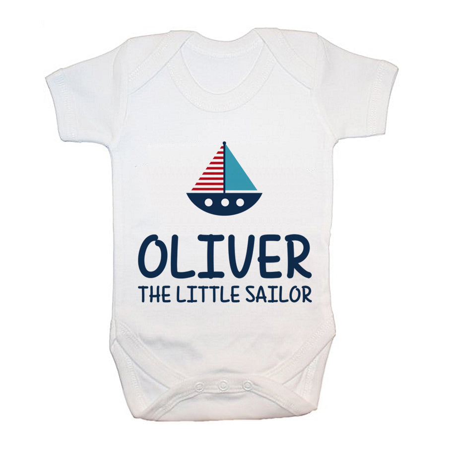 Personalised Little Sailor Baby Grow