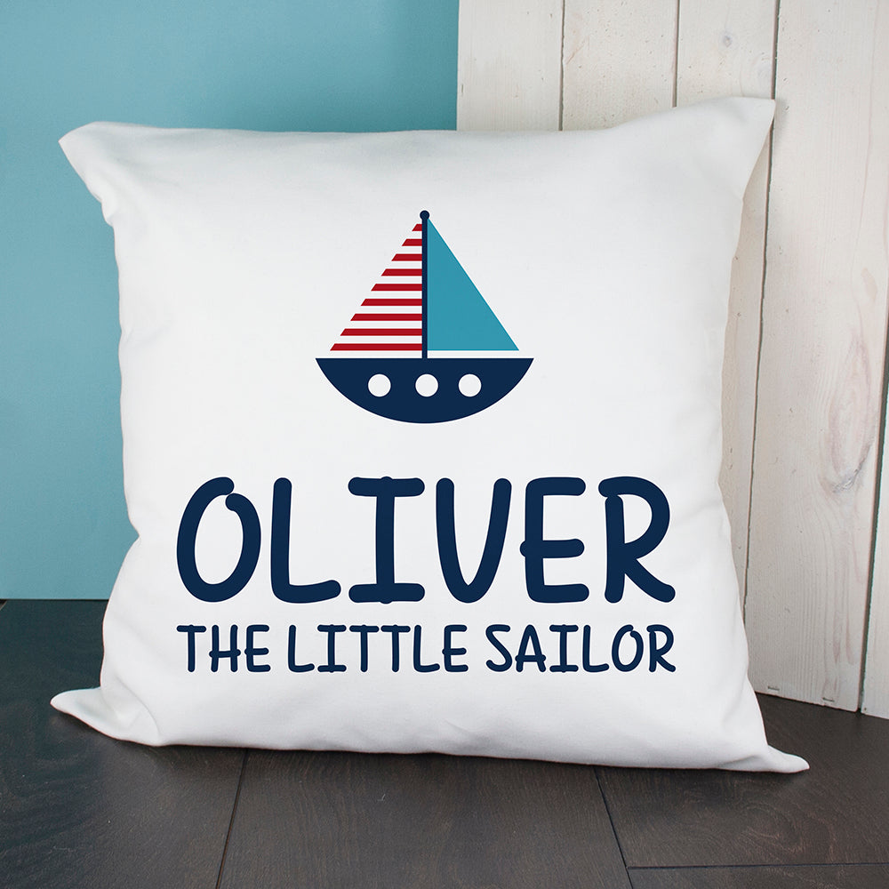 Personalised Little Sailor Cushion Cover - treat-republic