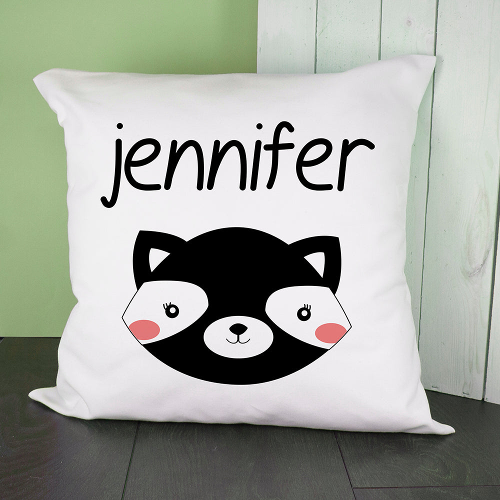 Personalised Little Skunk Face Cushion Cover - treat-republic