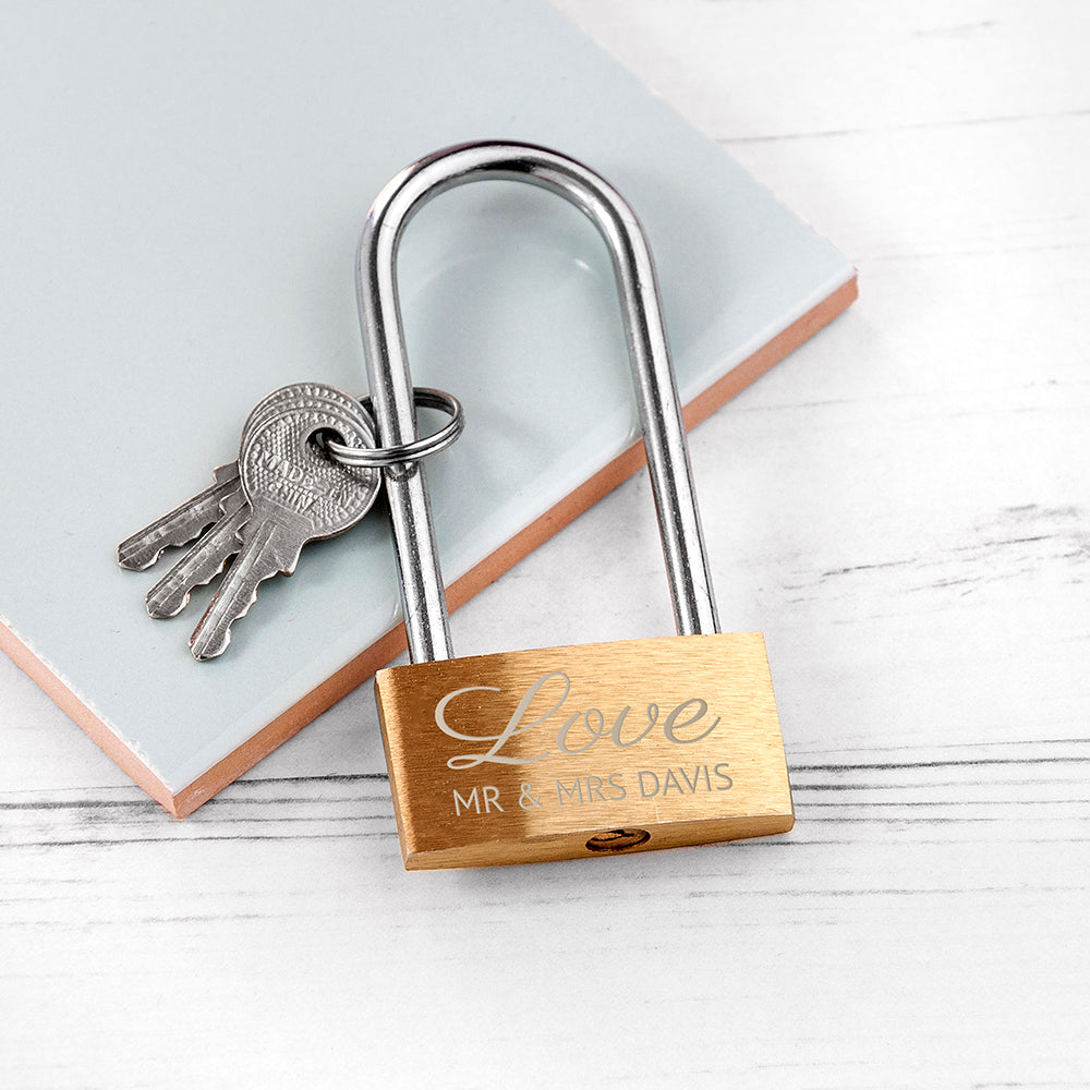 Personalised Lovers' Padlock