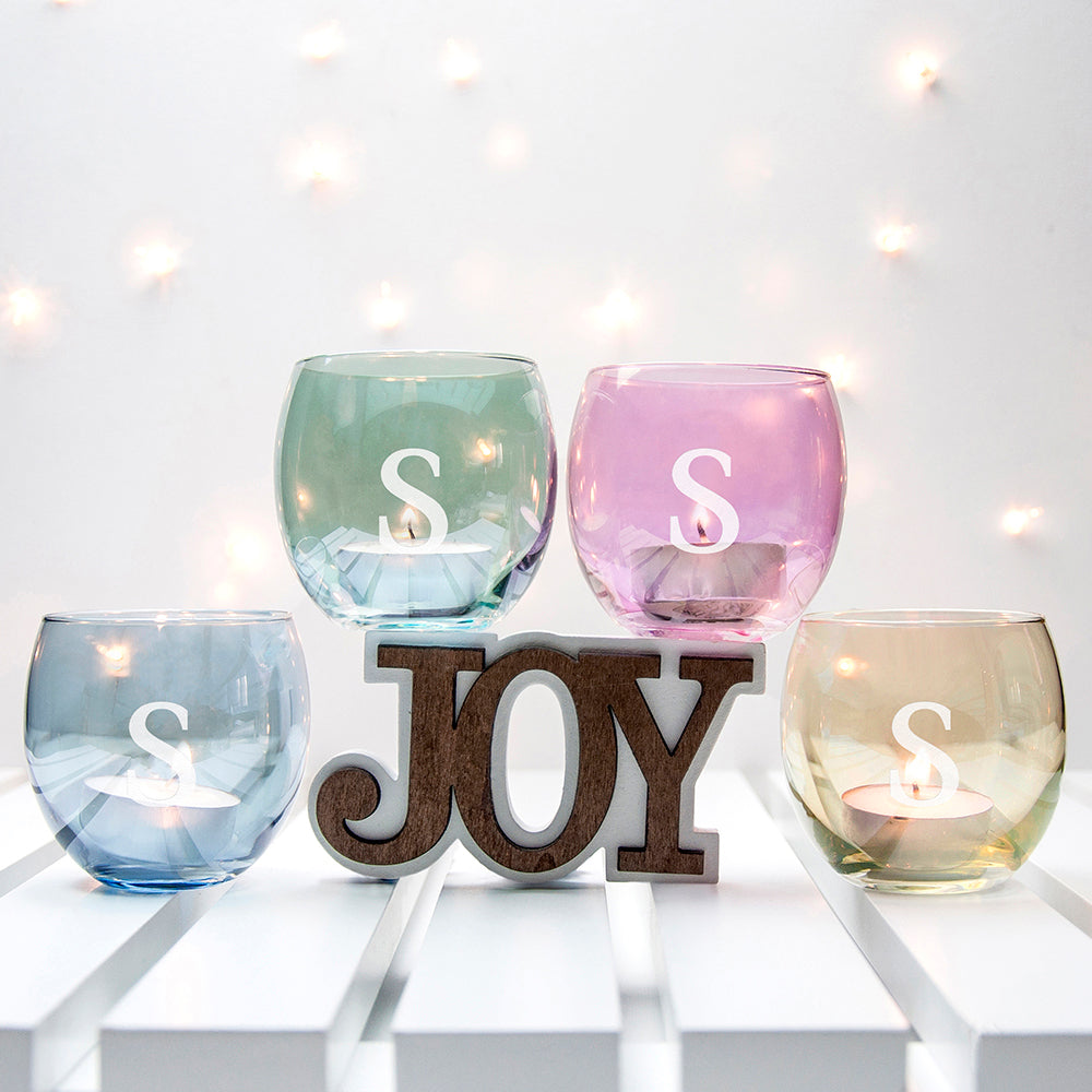 Personalised LSA Hand Painted Tealight Holders Set of 4 - treat-republic