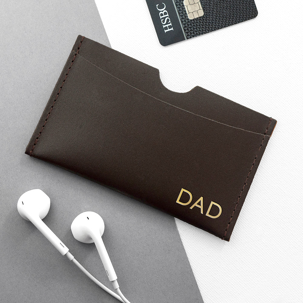 Personalised Luxury Leather Card Holder - treat-republic