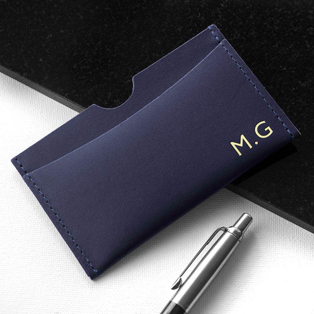 Personalised Luxury Leather Card Holder