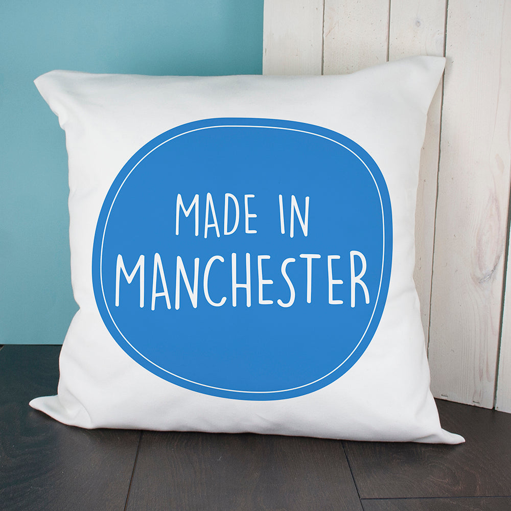 Personalised Made In Cushion Cover - treat-republic