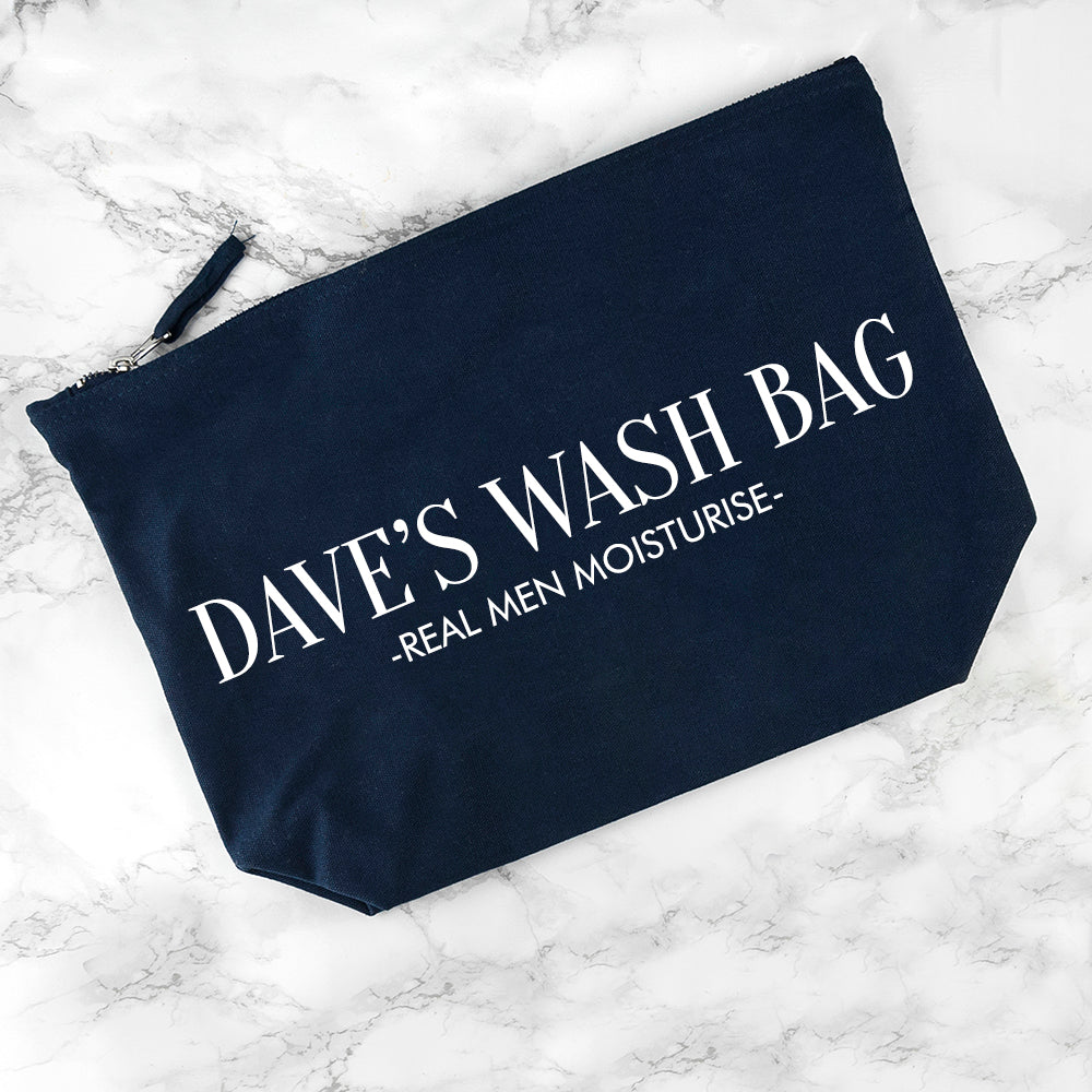 Personalised Men's Wash Bag in Navy - treat-republic