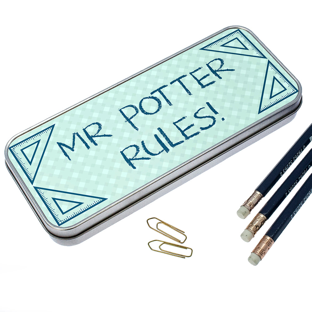 Personalised My Teacher Rules Pencil Case - treat-republic