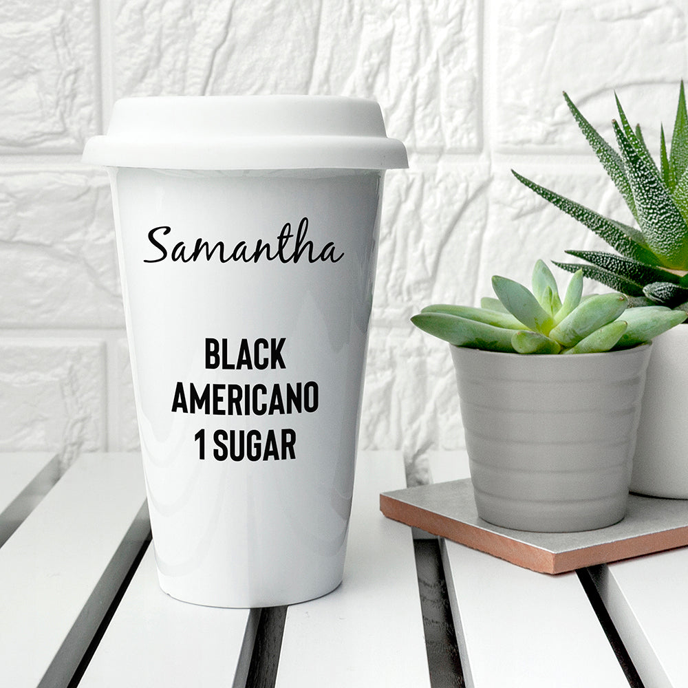 Personalised Name and Order Travel Mug
