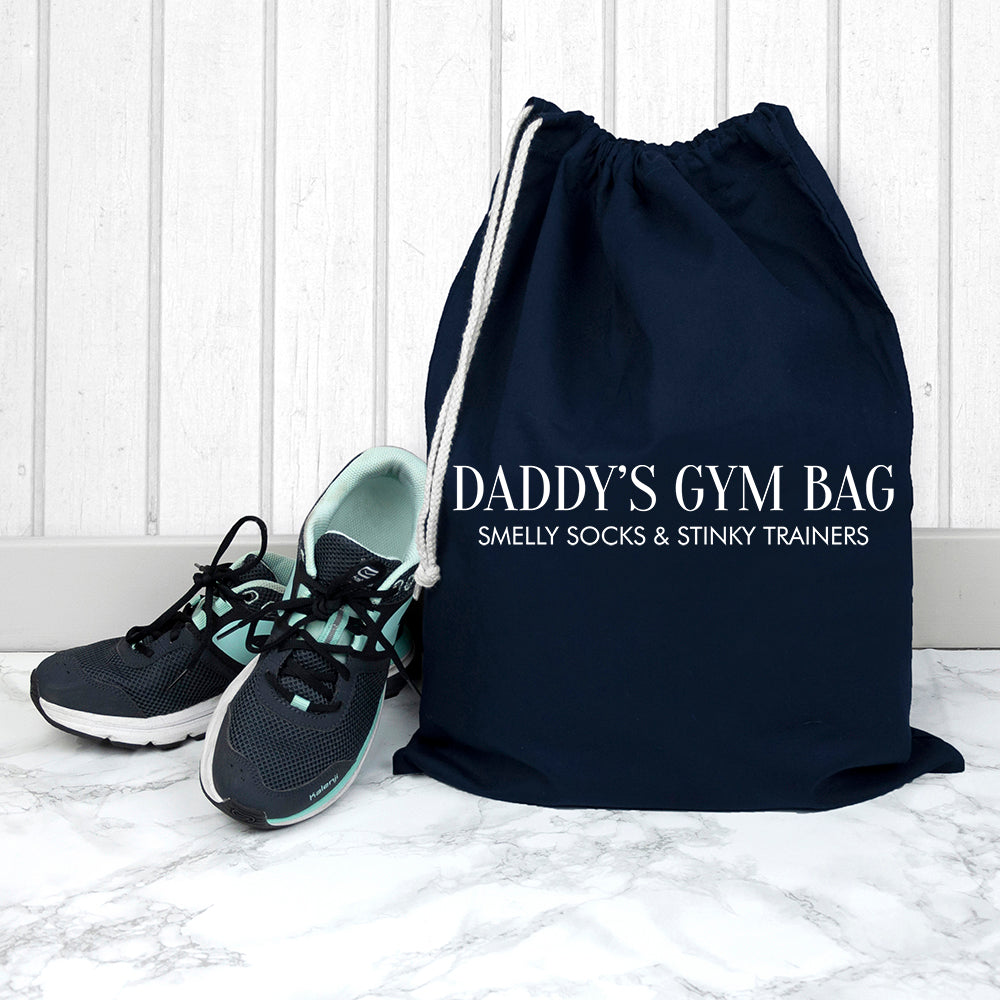 Personalised Cotton Navy Gym Bag - treat-republic