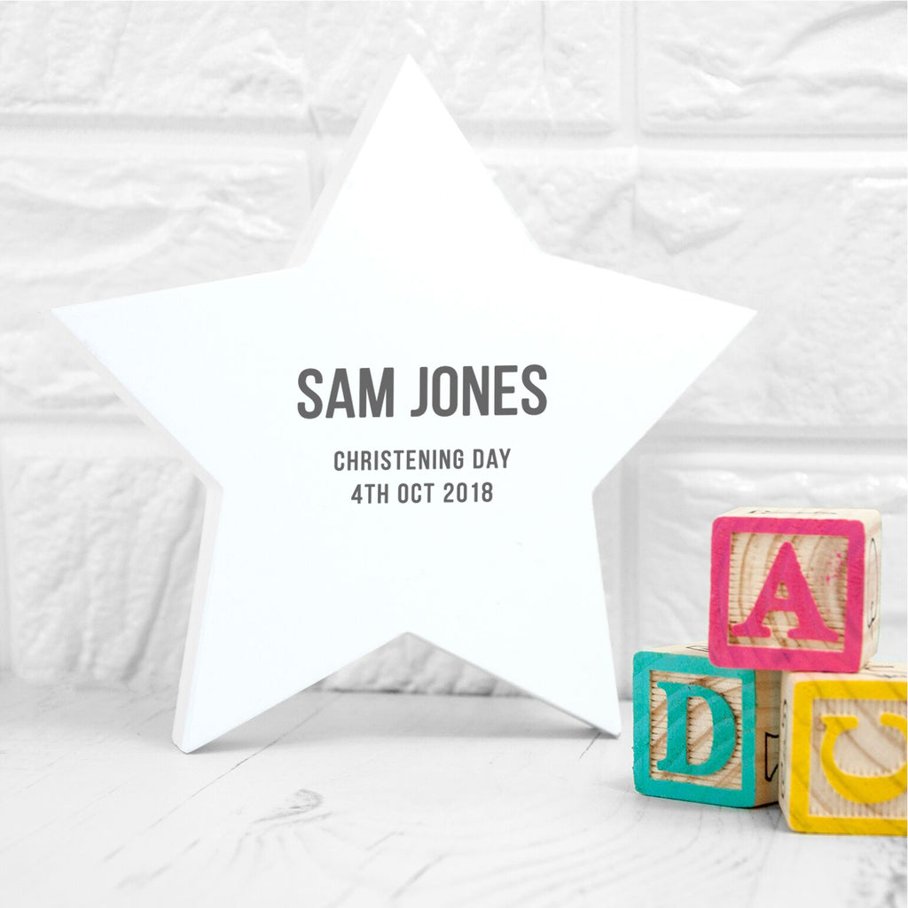 Personalised Newborn Baby Star Keepsake - treat-republic