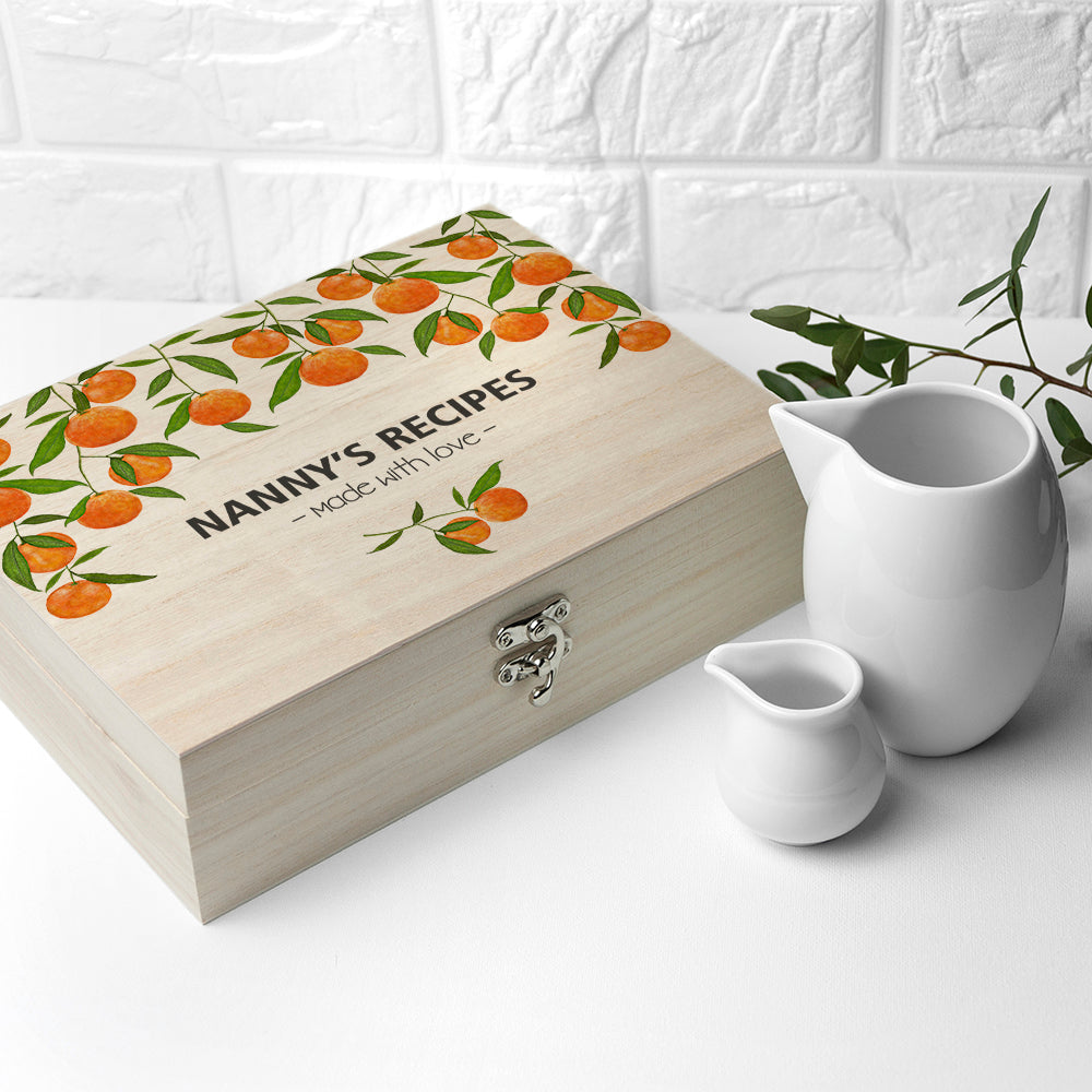 Personalised Orange Grove Recipe Box - treat-republic