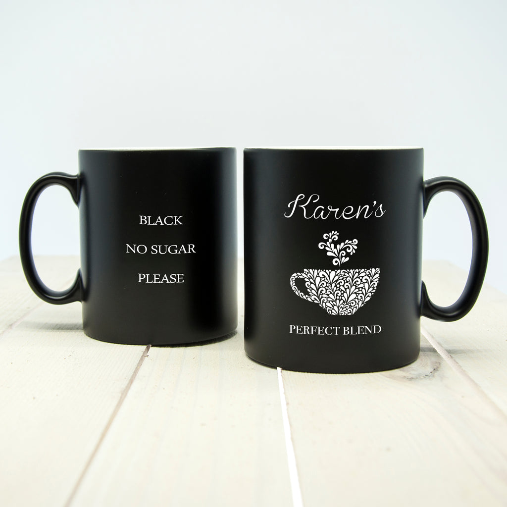 Personalised Silhouette Perfect Blend Mug - treat-republic