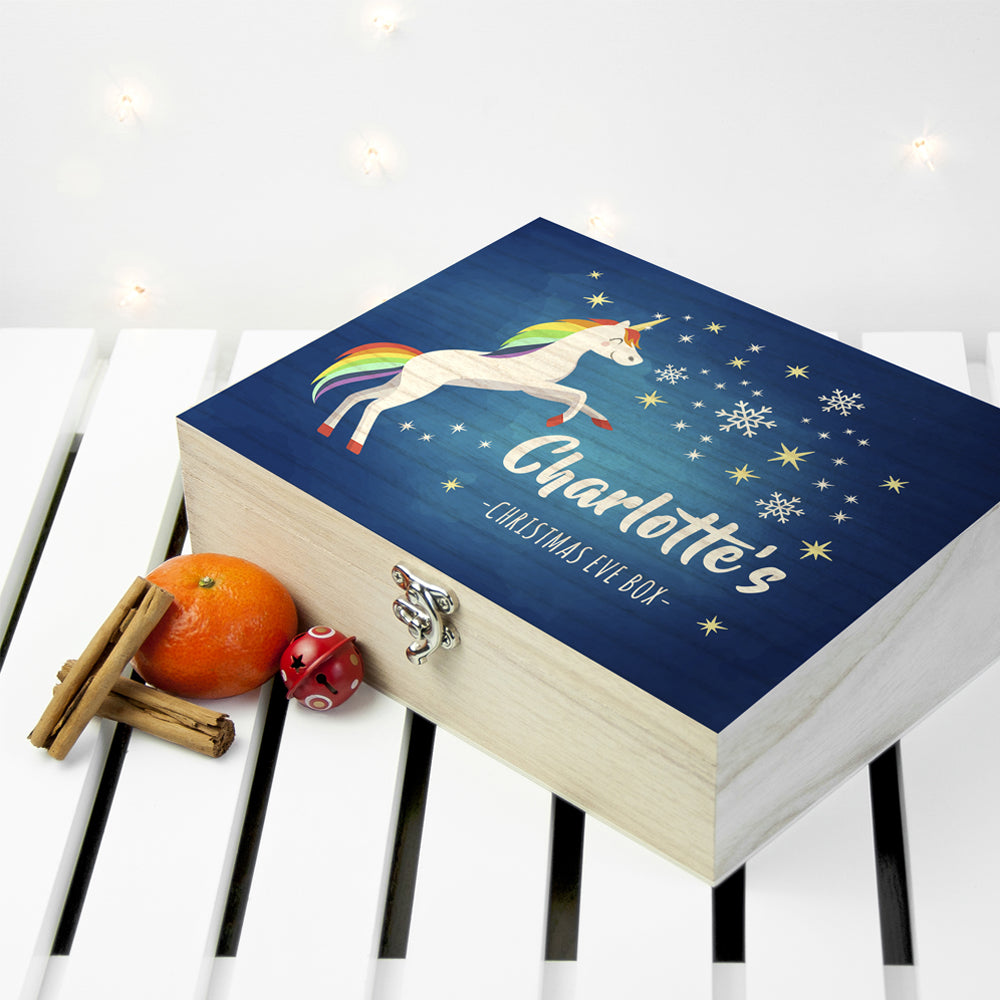 Personalised Rainbow Unicorn Christmas Eve Box - treat-republic