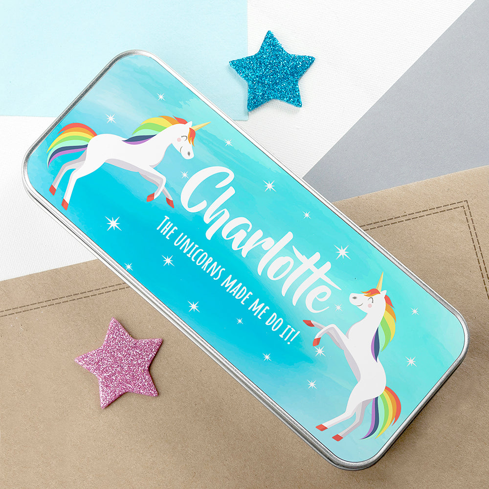 Personalised Rainbow Unicorn Pencil Case - treat-republic