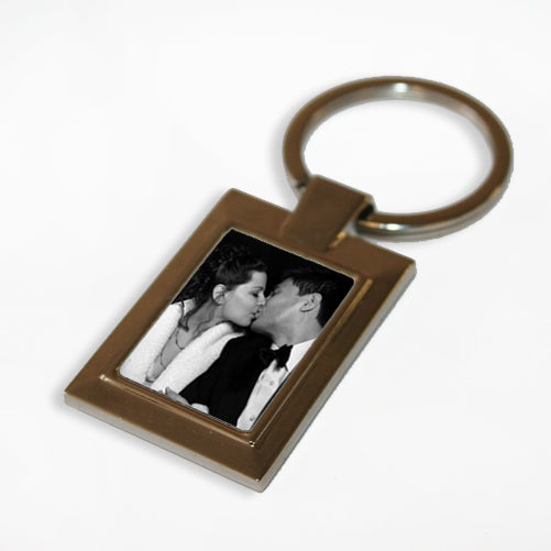 Personalised Rectangle Photo Keyring - treat-republic