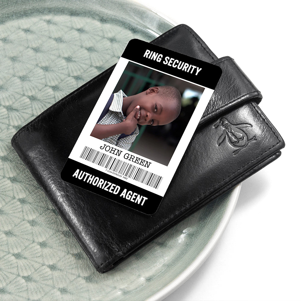 Personalised Ring Security Wallet Keepsake - treat-republic