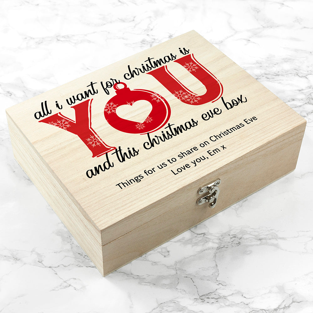 Personalised Romantic Couples Christmas Eve Box