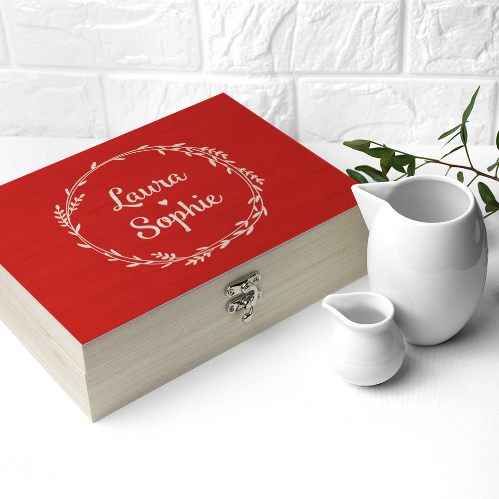 Personalised Romantic Wreath Tea Box - treat-republic