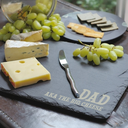 Personalised Engraved Black Slate Cheese Board - treat-republic