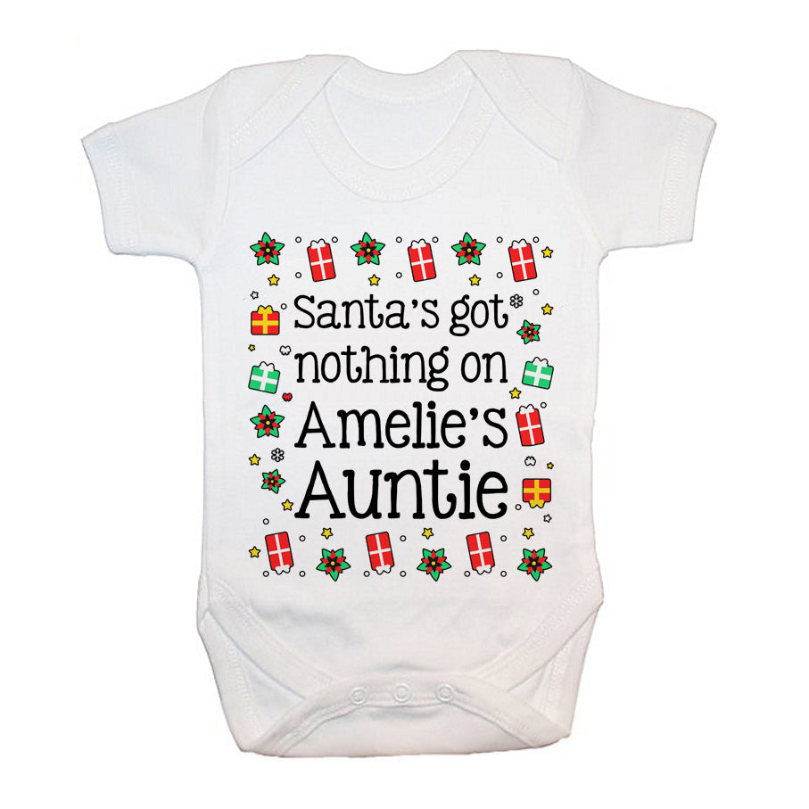 Personalised Santa's Got Nothing Baby Grow - treat-republic