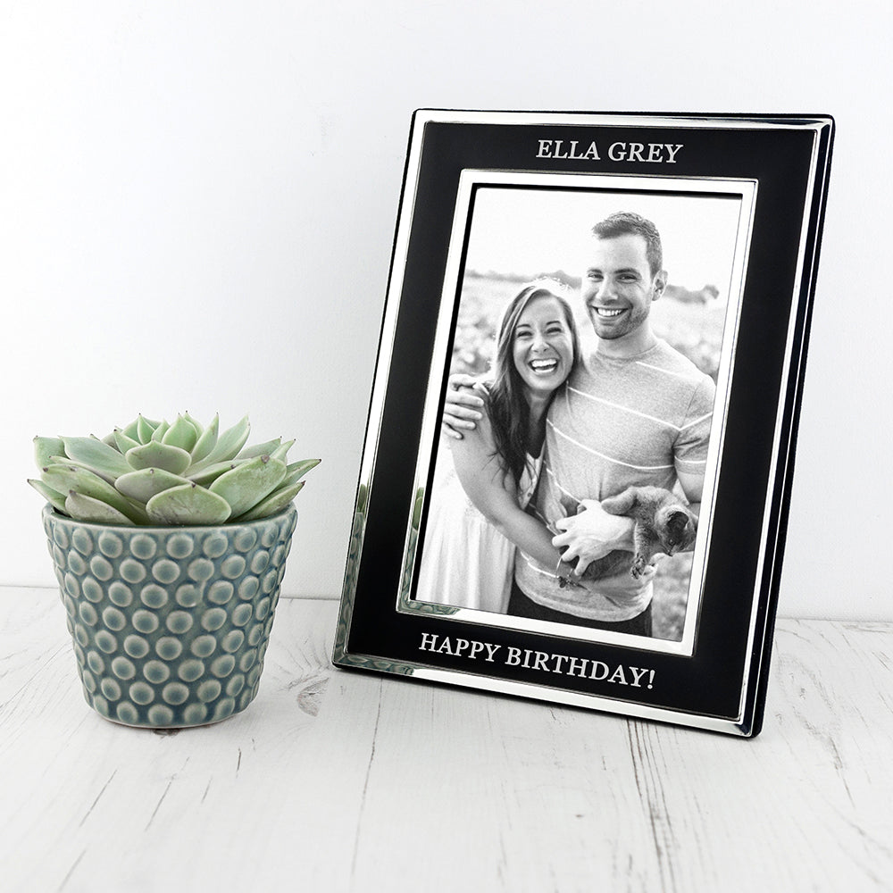 Personalised Silver Plated Birthday Frame