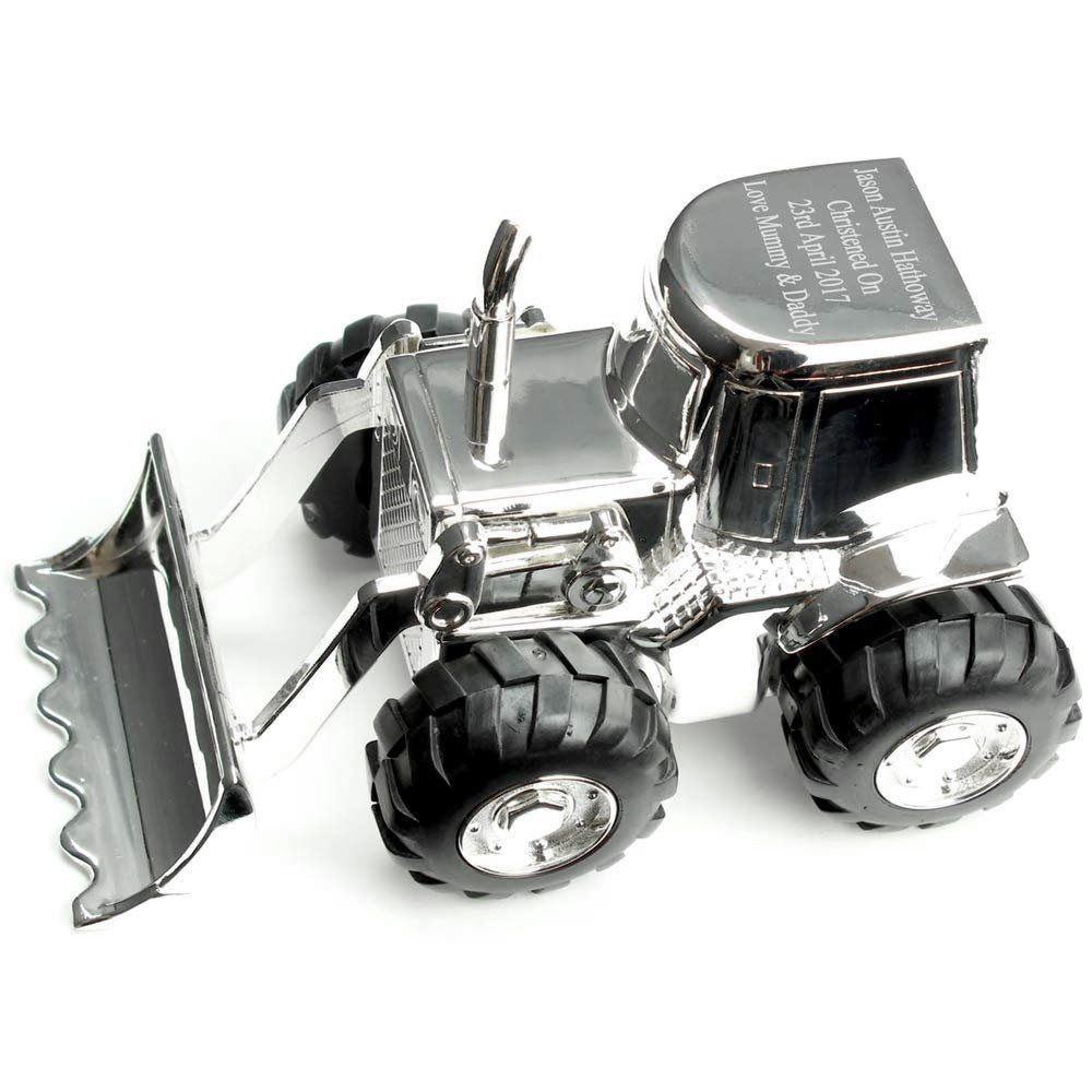Personalised Silver Plated Digger Money Box - treat-republic