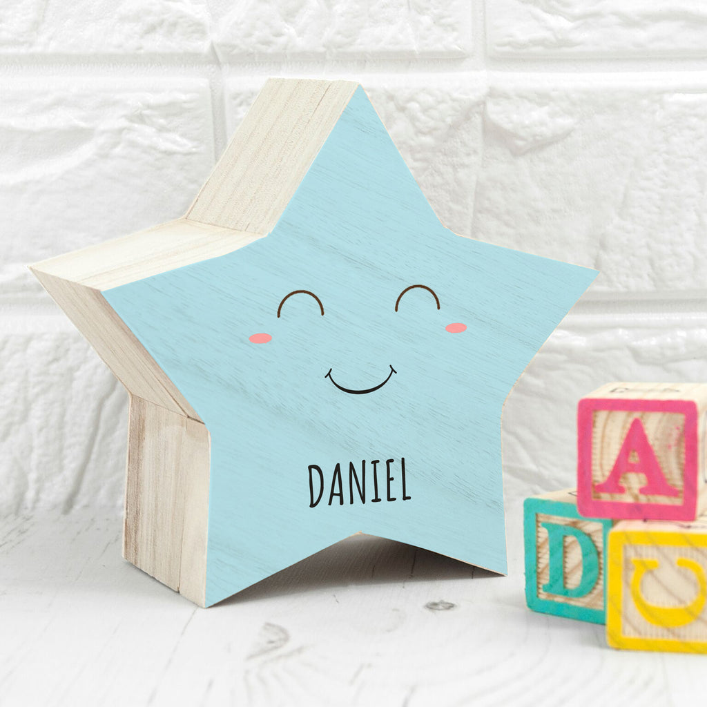 Personalised Smiling Star Pastel Trinket Box