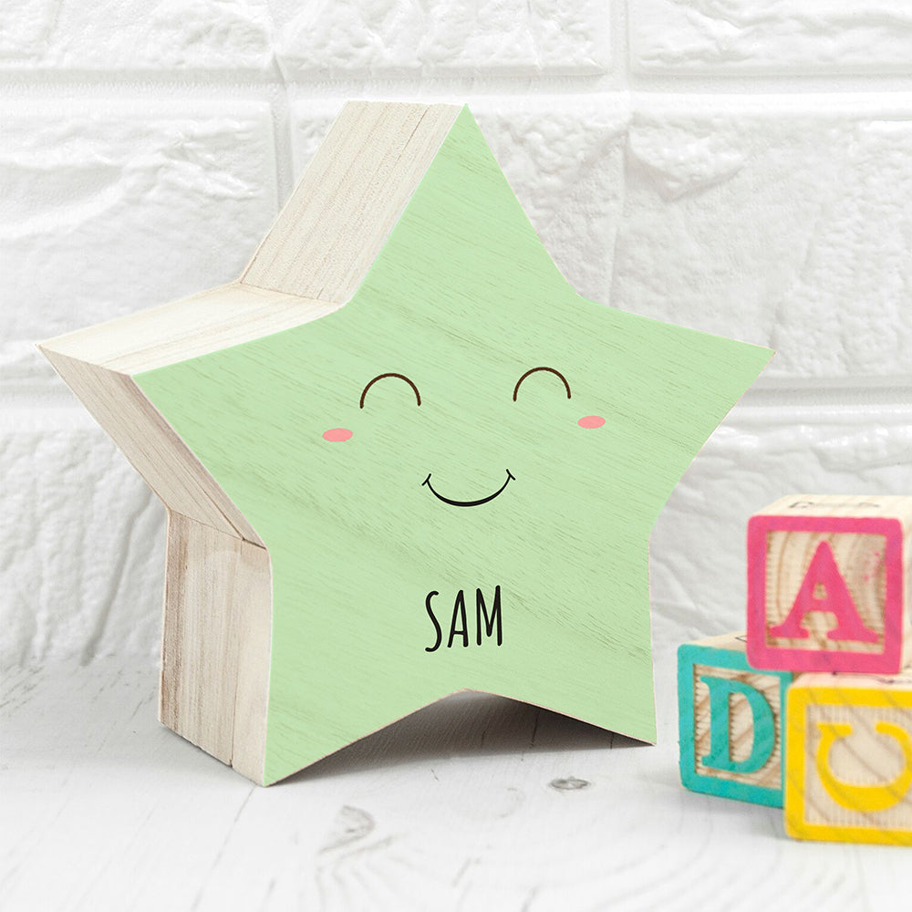 Personalised Smiling Star Pastel Trinket Box - treat-republic
