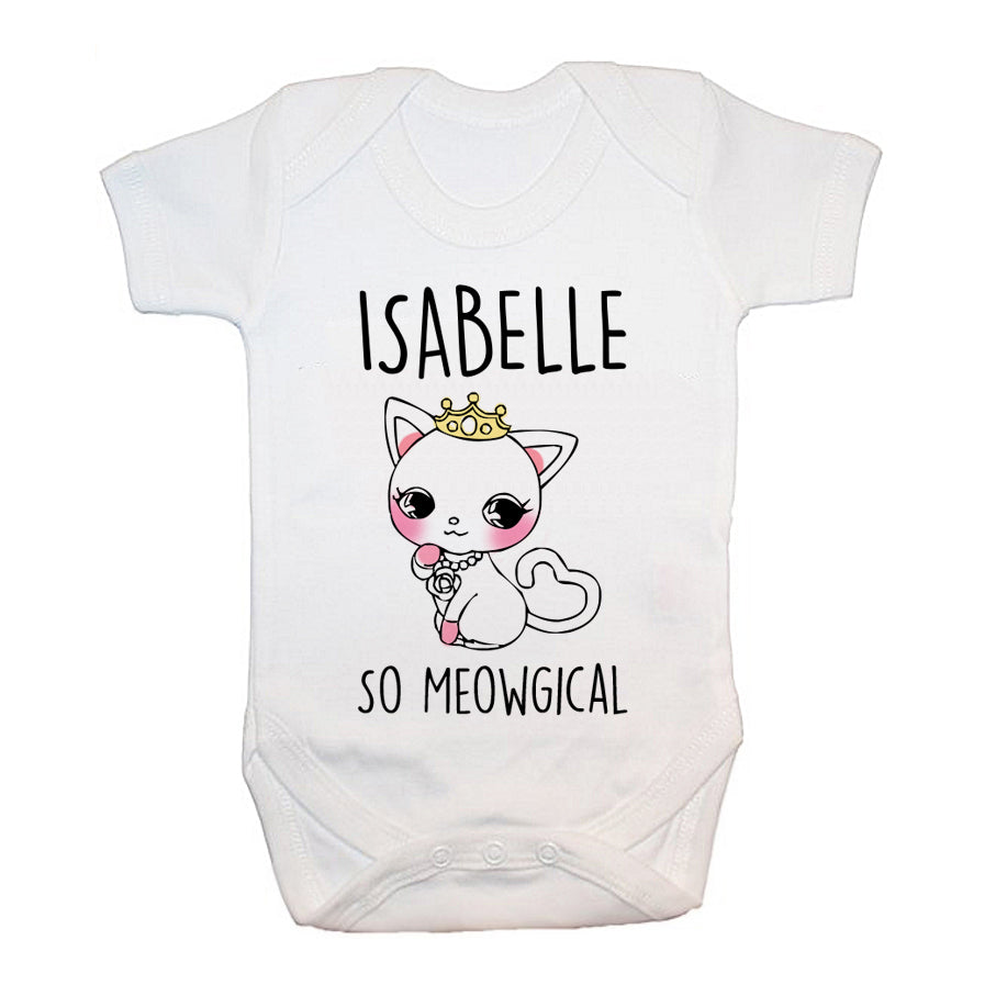 Personalised So Meowgical Baby Grow - treat-republic