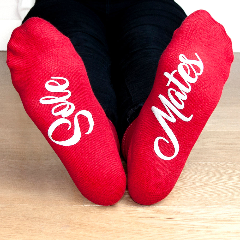 Personalised Sole Mates Romantic Socks - treat-republic