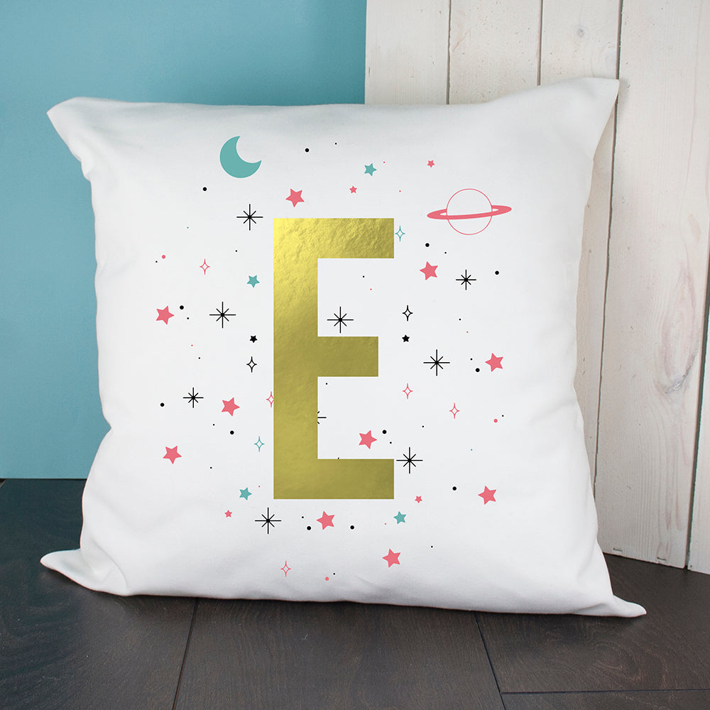 Personalised Space Girl Cushion Cover