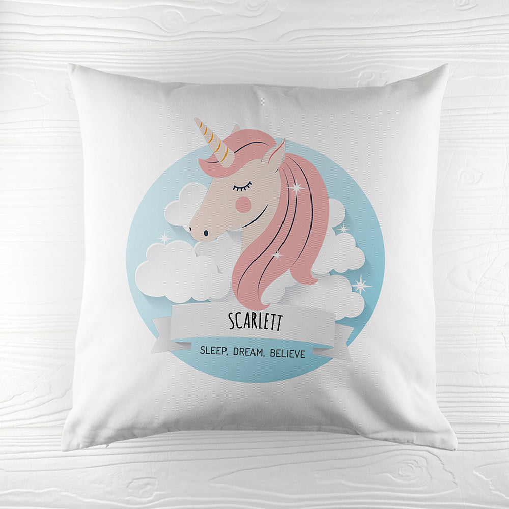 Personalised Sparkle Squad Sweet Dreams Cushion Cover