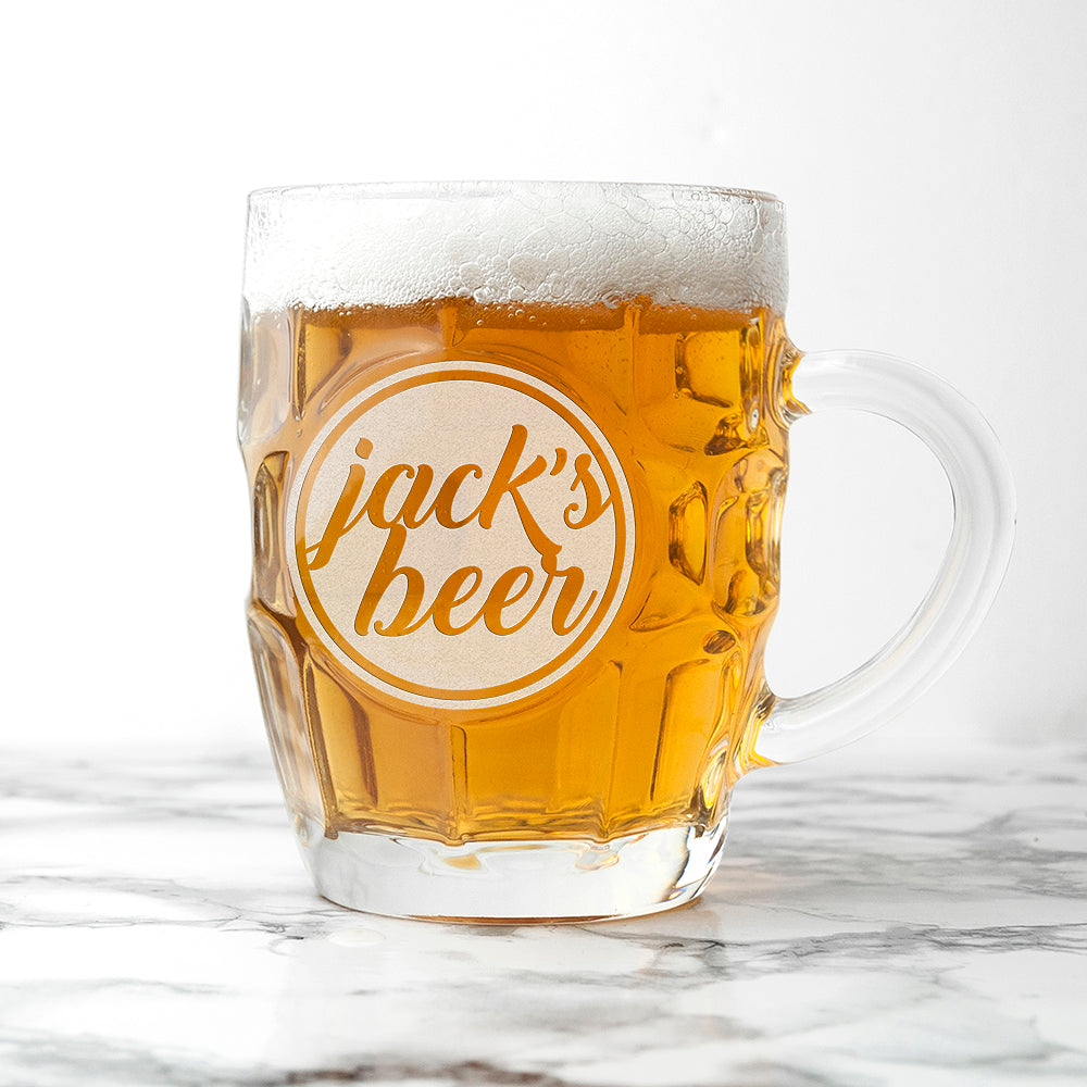 Personalised Statement Dimpled Beer Glass - treat-republic