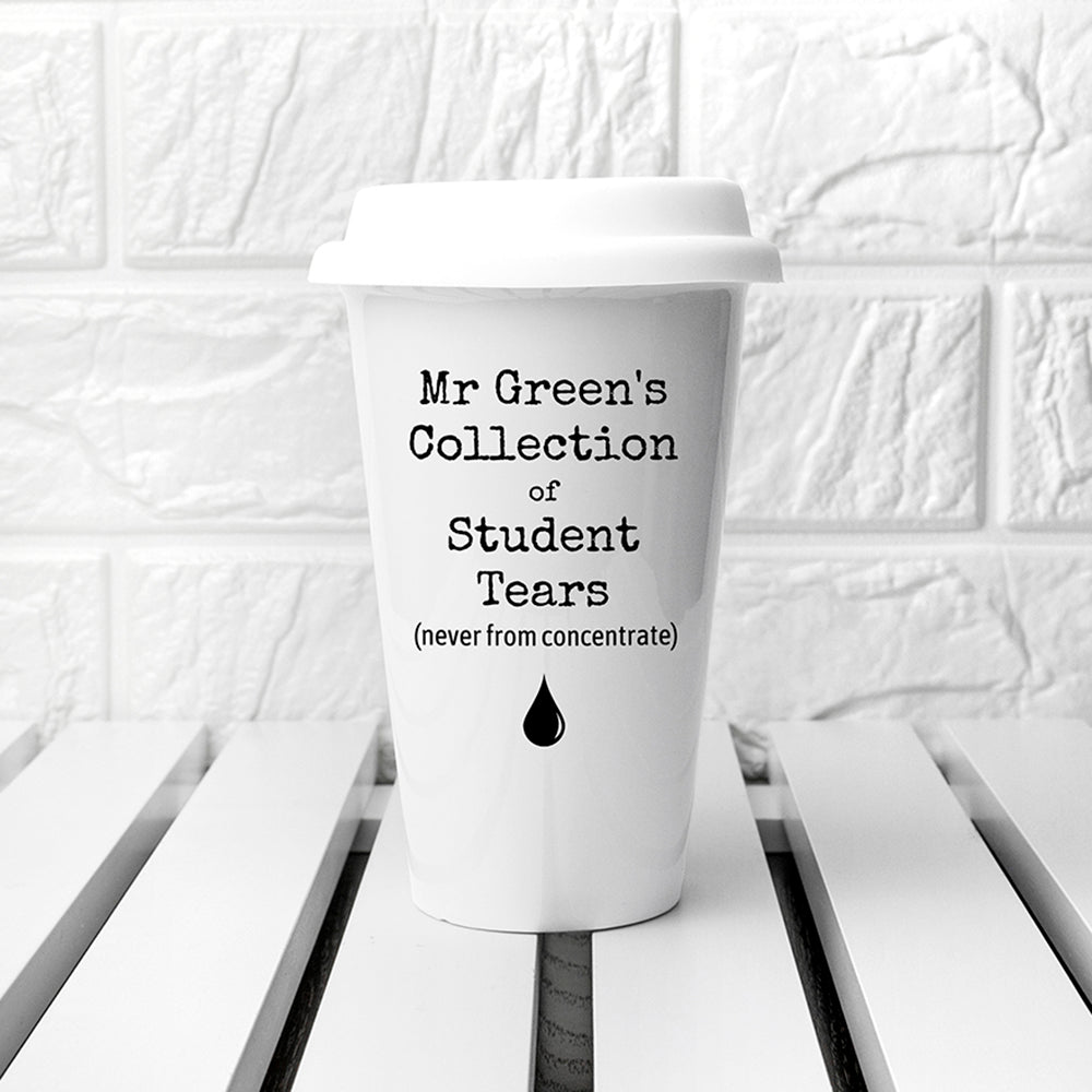 Personalised Students Tears Travel Mug - treat-republic