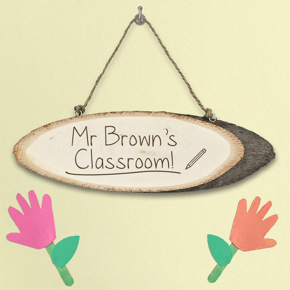 Personalised Teacher's Classroom Wooden Sign - treat-republic