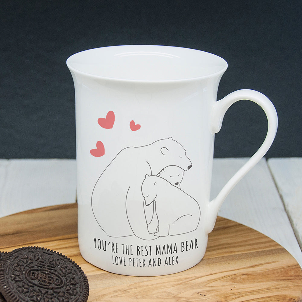 Personalised The Best Mama Bear Bone China Mug - treat-republic