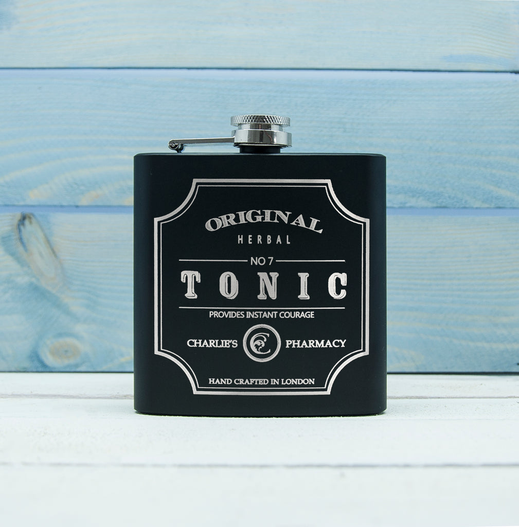 Personalised Tonic Vintage Hip Flask - treat-republic