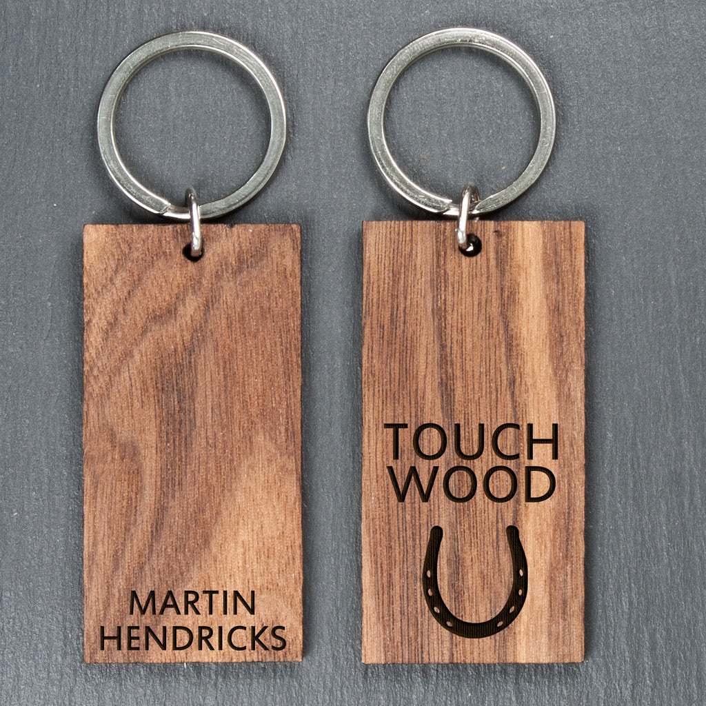 Personalised Touch Wood Keyring - treat-republic