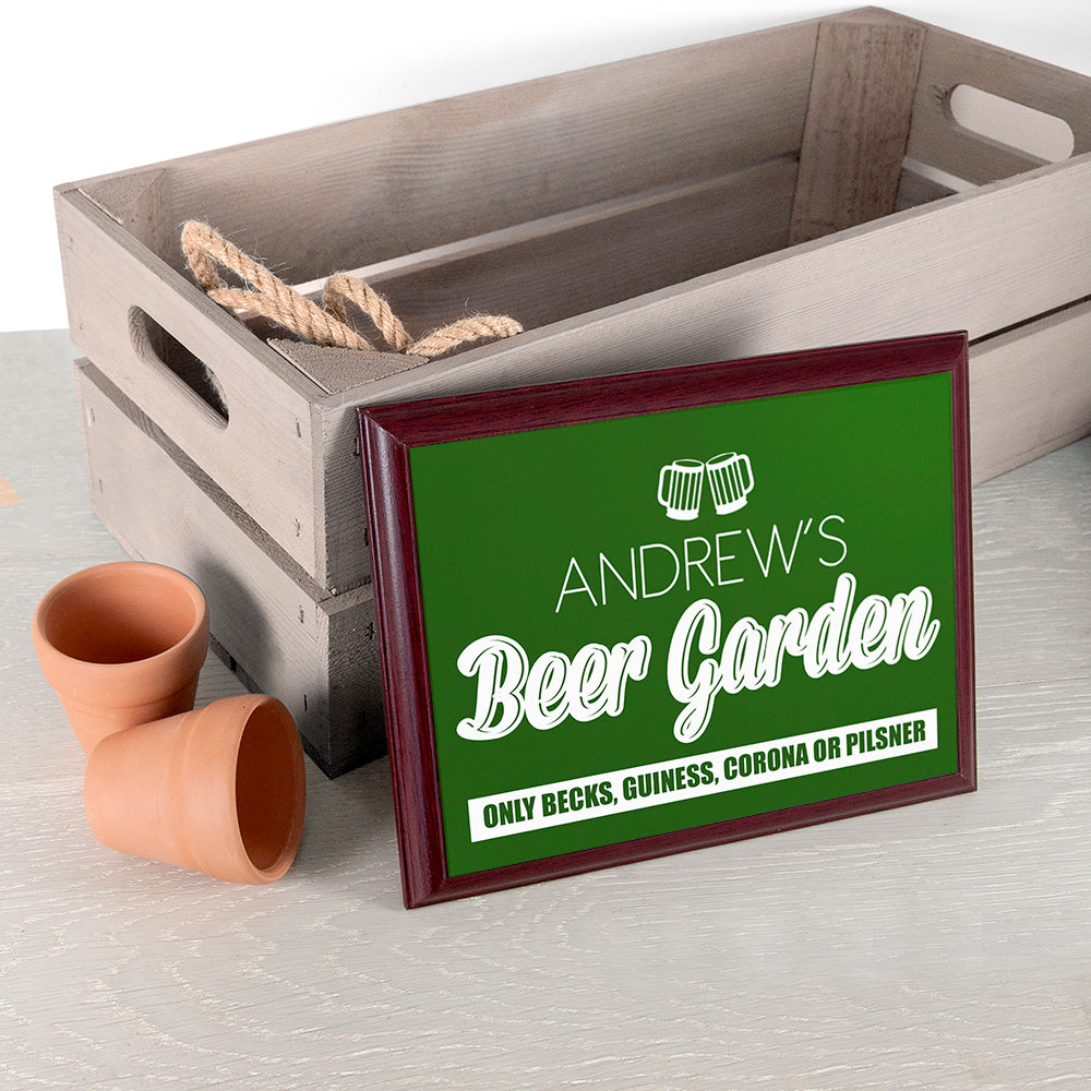 Personalised Welcome To My Beer Garden Plaque - treat-republic